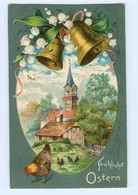 Y8575/ Fröhliche Ostern Glocken 1905 Litho Prägedruck AK - Easter