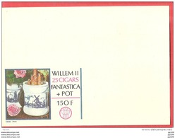 Publibel SPECIMEN - Sans Timbre - N° 2266 N  TABAC TOBACCO Willem II 25 Cigars Moulin Molen Rose - Entiers Postaux