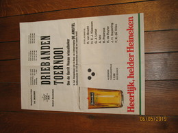"""AMSTERDAM - Affiche Du Tournoi De Billard  - Publicité : Bières """" Heineken """"  (jm) - Posters"""