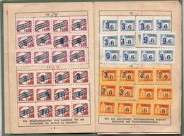 MITGLIEDSBUCH Des KRIEGSOPFERVERBANDES Für Wien, NÖ U. Burgenland, Voll Mit Marken Und Stempeln, 30 Seiten - Documents