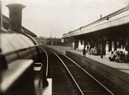 ENGINE DRIVERS POINT OF VIEW    RAILWAY CHEMIN DE FER 21* 16 CM Fonds Victor FORBIN 1864-1947 - Trains