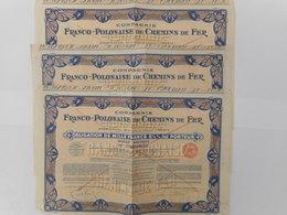 LOT De 3 Franco Polonaise De CHEMINS De FER  1931 - Aandelen