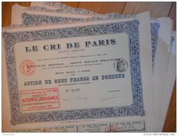 LOT De 6 LE CRI De PARIS  1911      PARIS - Aandelen