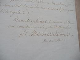 LAS Autographe Maréchal Clarke Duc De Feltre Ministre Guerre Paris 08/01/1813 120 Prisonniers à Bordeaux Mal Traités - Documents