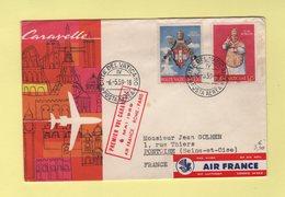 Vatican - Premier Vol Caravelle Air France Rome Paris - 6 Mai 1959 - Lettres & Documents