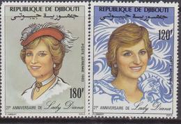 Gibuti - Diana  Set  MNH - Gibuti (1977-...)