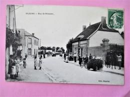 Prespective Peu Courante A PLEURS ( Marne)  De La Rue De Sézanne - Voyagé En 1916 - Other Municipalities