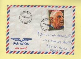 Benin - Natitingou - 7 Mars 1991 - Charles De Gaulle - Bénin – Dahomey (1960-...)