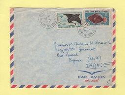 Cote Des Somalis - Djibouti - 1963 - Poissons - Lettres & Documents