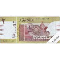 TWN -  SUDAN 71c - 2 Pounds March 2017 DEALERS LOT X 100 - Prefix BJ - Full Bundle UNC - Sudan