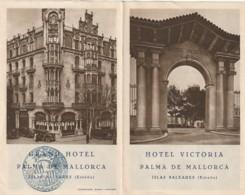 - Dépliant Touristique - Espagne - Hotel Victoria - PALMA DE MALLORCA - Nombreuse Photos De L'hotel - ISLAS BALEARES - Dépliants Touristiques
