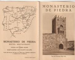 - Dépliant Touristique - Espagne - Hotel Monasterio De Piedra - Folletos Turísticos