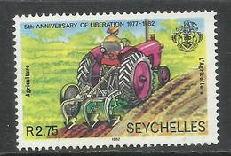 SEYCHELLES 1982 ANNIVERSARY OF LIBERATION OX CART 2.75r MNH - Seychelles (1976-...)