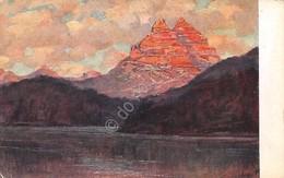 Cartolina Illustrata Polesello Lago Di Misurina - Cartoline