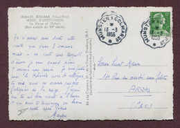 "AMBULANT - CONVOYEUR : "" MUNSTER A COLMAR 2° ""  1956 - Bahnpost"