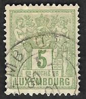 LUXEMBOURG  1882-91 -  YT  50 -  Allegorie  Oblitéré - 1895 Adolphe Right-hand Side