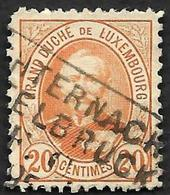 LUXEMBOURG  1891-93 -  YT  61 -  Adolphe -   Oblitéré - 1895 Adolphe Right-hand Side