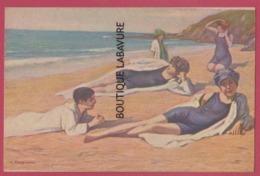 ILLUSTRATEUR --L-TANQUEREY---Le Bain De Soleil--A Sun Bath - Illustrateurs & Photographes