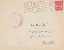 LETTRE . FM. 2° REGIMENT DU GENIE 23° SARREBOURG 1957 - Marcofilie (Brieven)