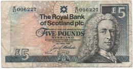 Royaume-Uni-  ECOSSE - 29 04 1998 - 5 Pounds   - Circulé    - Voir Scans - Scozia
