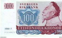 Sweden P,54   100 Kronor 1980  A-unc - Sweden