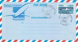 FRANCE - AEROGRAMME  ATR 72 4.20 - CACHET MUSEE AERONAUTIQUE NANCY ESSEY 25.6.1993 TOMBLAINE 54 / 6682 - Postal Stamped Stationery