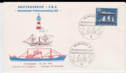 Germany FDC 1965 Intl. Verkehrsausstellung  (DD3-12) - FDC: Buste