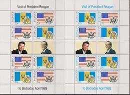 Barbados -  QEII 1982 Ronald Reagan / 2 Sheet - Barbados (1966-...)