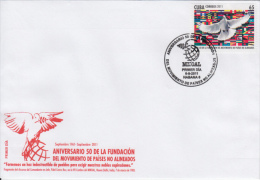 2011-FDC-17 CUBA 2011 FDC. 5O ANIV DE LA FUNDACION DE MOVIMIENTOS DE PAISES NO ALINEADOS. - FDC