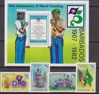 Barbados -  Scout Set+Sheet - Barbados (1966-...)