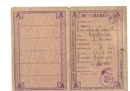 CARTE INDIVIDUELLE D'ALIMENTATION - 1944 - Ville De Bressuire 79 - Coupons Timbres - Guérin A. - Historische Dokumente