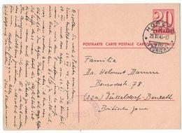 IN121  Postal Stationery Switzerland Horgen To Germany British Zone1946 - Militarycensorship - Ganzsachen