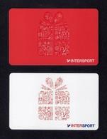 2 Carte Cadeau. Gift Card.   INTERSPORT. - Cartes Cadeaux