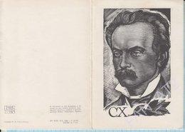 USSR / Post Card / Soviet Union / UKRAINE Ex-libris. Ivan Franko Is 110 Years Old. Hymn Notes Eternal Revolutionary 1966 - Writers