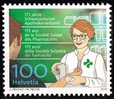 SWITZERLAND 2018, 175 Years ASSOCIATION Of SWISS PHARMACISTS, COMPLETE, MNH SET In GOOD QUALITY, *** - Switzerland