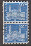 Switzerland 1963 Baudenkmäler / Einsiedeln 1v (pair)  Used (42729A) - Zwitserland