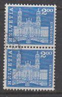 Switzerland 1963 Baudenkmäler / Einsiedeln 1v (pair)  Used (42729B) - Zwitserland
