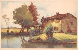 Cartolina Illustrata Casolare In Riva Al Fiume 1943 - Cartoline