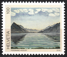 SWITZERLAND 2018, PAINTING Of LAKE THUN From ARTIST FERDINAND HODLER, COMPLETE, MNH SET In GOOD QUALITY, *** - Suisse