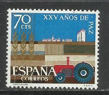 SPAIN ESPAÑA SPAGNA 1964 XXV ANOS DE PAZ PEACE YEAR CENT. 70c MNH - 1931-Oggi: 2. Rep. - ... Juan Carlos I