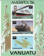 1986 Vanuatu Coolidge Ship WWII  Souvenir Sheet  MNH - Vanuatu (1980-...)