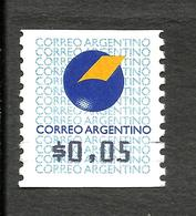 ARGENTINA ATM CAT.GJ 1 - MICHEL 1 (0,05) MNH - Franking Labels