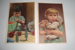 2 Kaarten Met Kinderen En Hun Speelgoed - Jeux Et Jouets