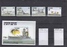 Gambia Michel Cat.No. Mnh/** 1926/1929 + Sheet 232 Battleships - Gambia