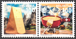 SWITZERLAND 2018, SWISS NATIONAL DISH: CHEESE FONDUE, COMPLETE, MNH SET In GOOD QUALITY, *** - Zwitserland