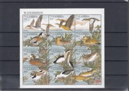 Gambia Michel Cat.No. Mnh/** Sheet 2046/2051 + Sheet 249/250 Birds - Gambia (1965-...)