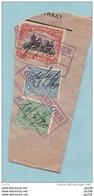3 TP Sur Fragm.  émission 1915 - Oblitération De Fortune GREMBERGEN  + Mention De La Date Manuscrite 10/7/1920 - Postmark Collection