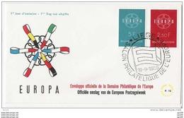 FDC EUROPA  Belgium TP 1111 & 1112 Oblitération 1er Jour : 19/9/1959 - Liège  Salon Philatélique De L'Europe - FDC