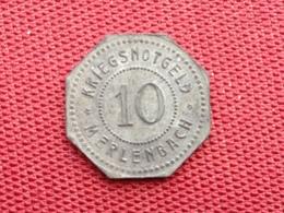 FRANCE Monnaie De Merlebach 10 Pfennig 1917 - Monetari / Di Necessità