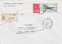 LETTRE RECOMMANDÉ POSTE AUX ARMEES SP 85.105B   /  2 - 1961-....